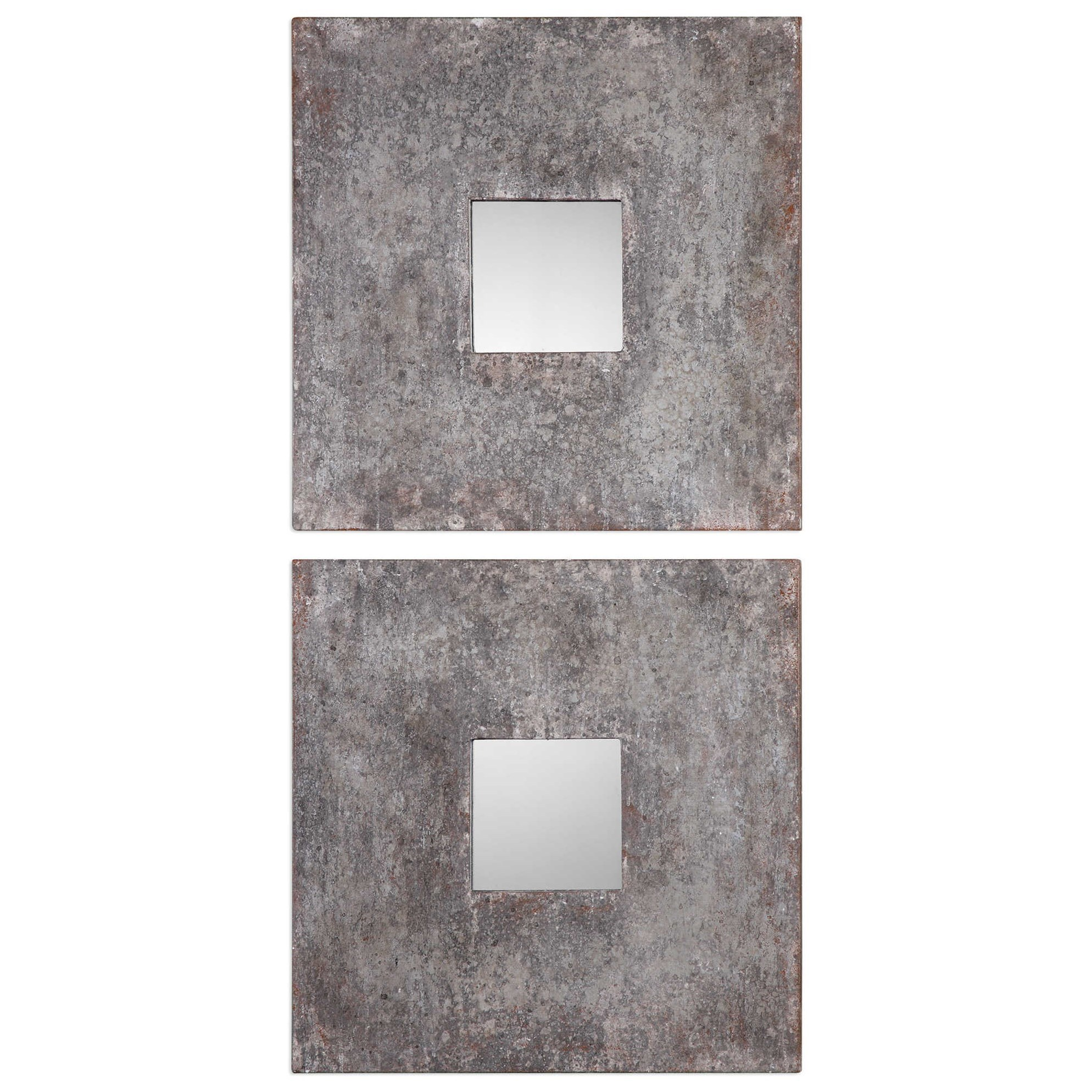 Altha Burnished Square Mirrors (Set of 2)