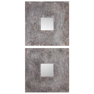 Uttermost Mirrors Altha Burnished Square Mirrors (Set of 2)