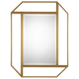 Uttermost Mirrors Mendez Antiqued Gold Mirror