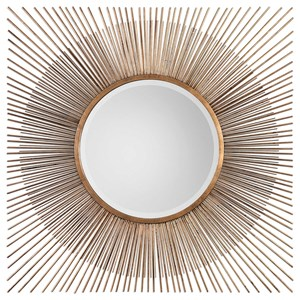 Uttermost Mirrors Azie Square Starburst Mirror