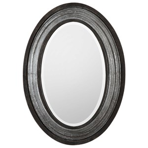 Uttermost Mirrors Galina Iron Oval Mirror