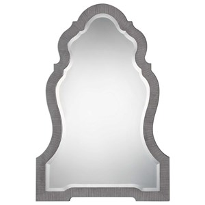 Carroll Aged Gray Arch Mirror