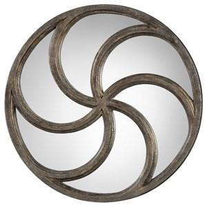 Uttermost Mirrors Spiralis Antiqued Silver Round Mirror