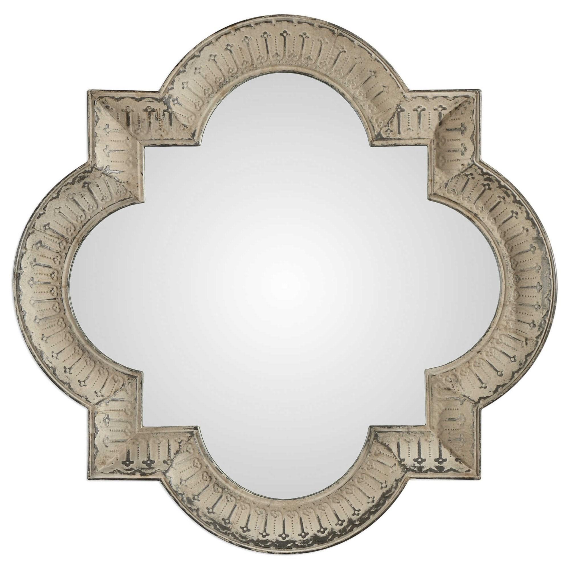 Giada Large Aged Ivory Mirror