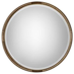 Uttermost Mirrors Finnick Iron Coil Round Mirror