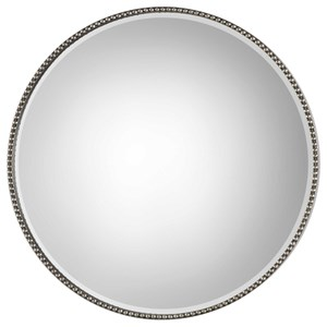 Uttermost Mirrors Stefania Beaded Round Mirror