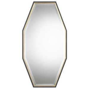 Savion Gold Octagon Mirror