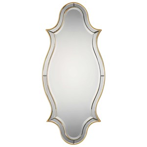 Uttermost Mirrors Donatella Curved Sided Gold Mirror