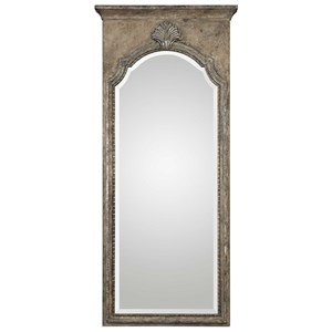 Nevola Antiqued Silver Mirror