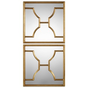 Uttermost Mirrors Misa Gold Square Mirrors Set of 2
