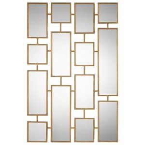 Uttermost Mirrors Kennon Forged Gold Rectangles Mirror