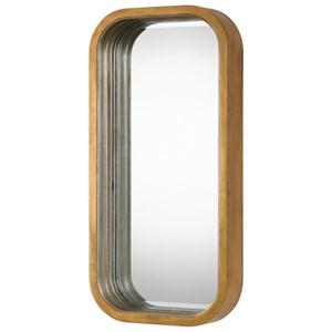 Senio Metallic Gold Wall Mirror