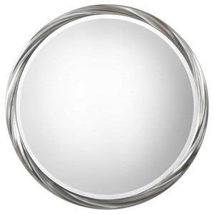 Uttermost Mirrors Orion Silver Round Mirror