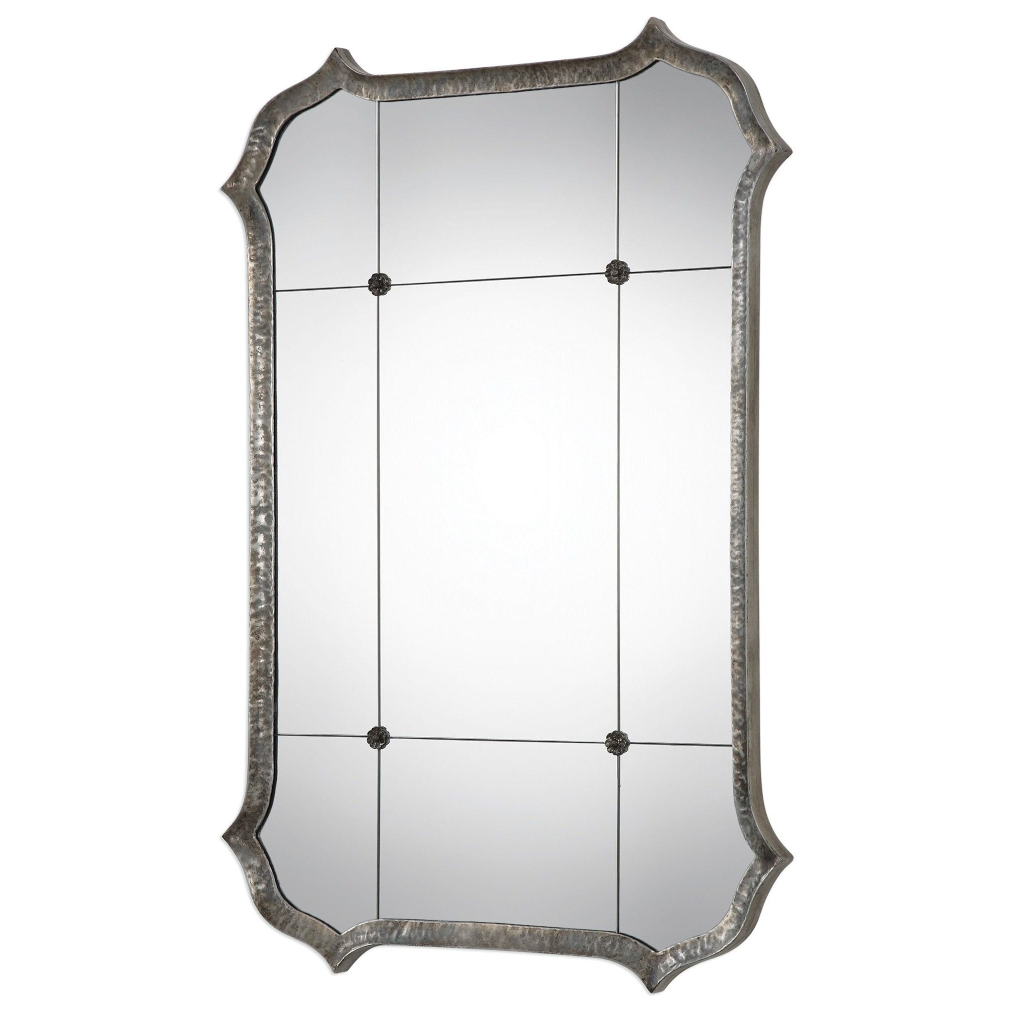 Lesina Hammered Silver Mirror