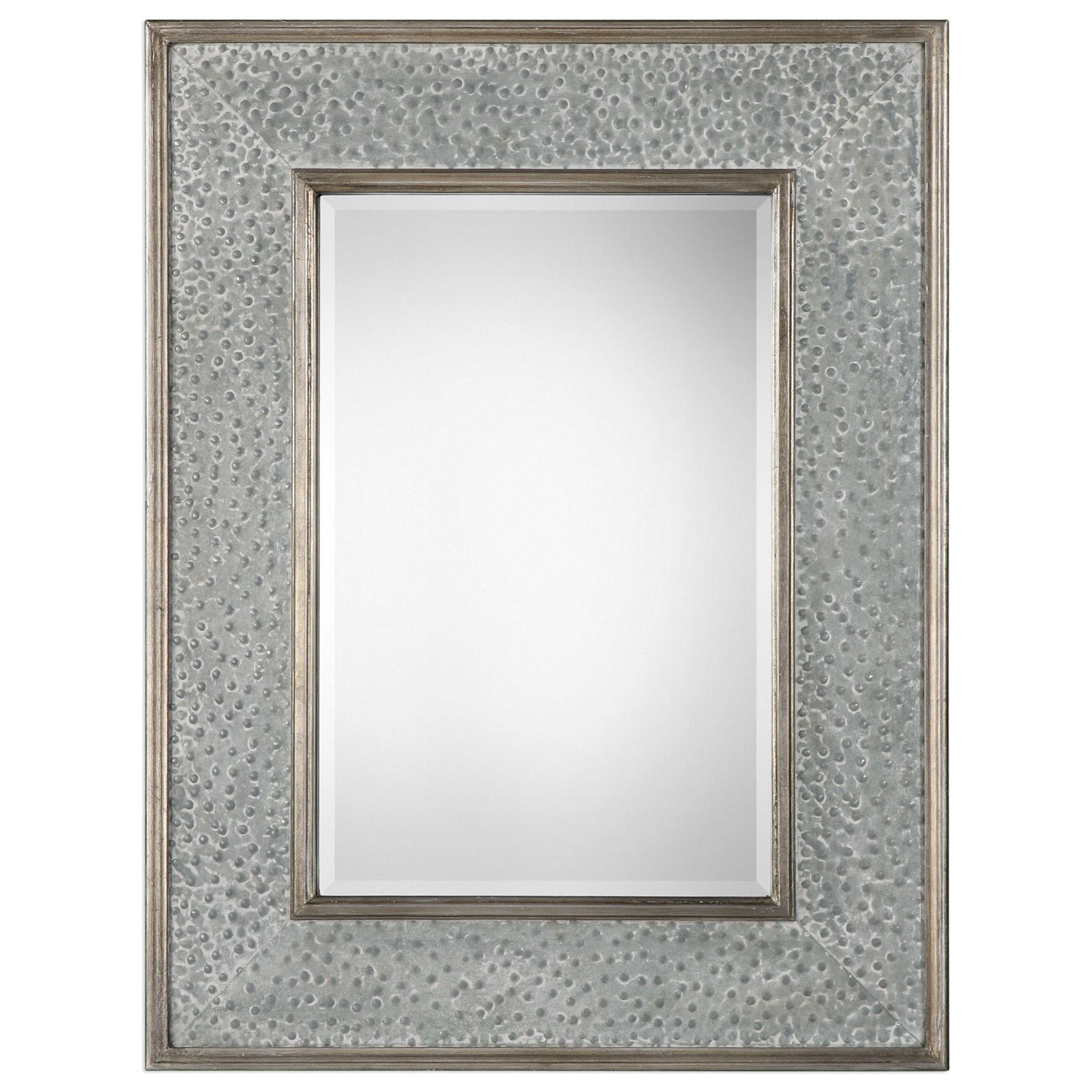 Draven Textured Silver Mirror