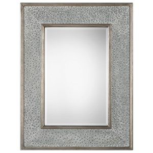 Draven Textured Silver Mirror