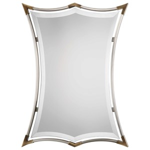 Verity Brushed Nickel Mirror