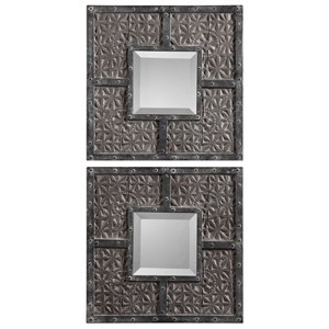 Uttermost Mirrors Gaiana Bronze Square Mirrors Set of 2
