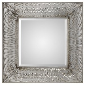 Jacenia Silver Square Mirror