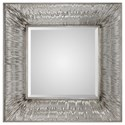 Uttermost Mirrors Jacenia Silver Square Mirror - Item Number: 09291