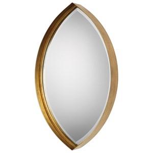 Uttermost Mirrors Oculus Gold Elipse Mirror