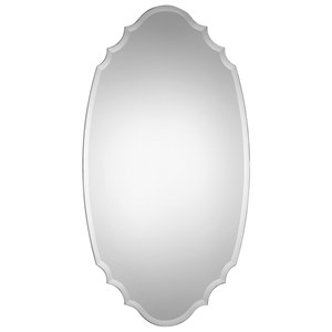Uttermost Mirrors Ulla Scalloped Oval Mirror