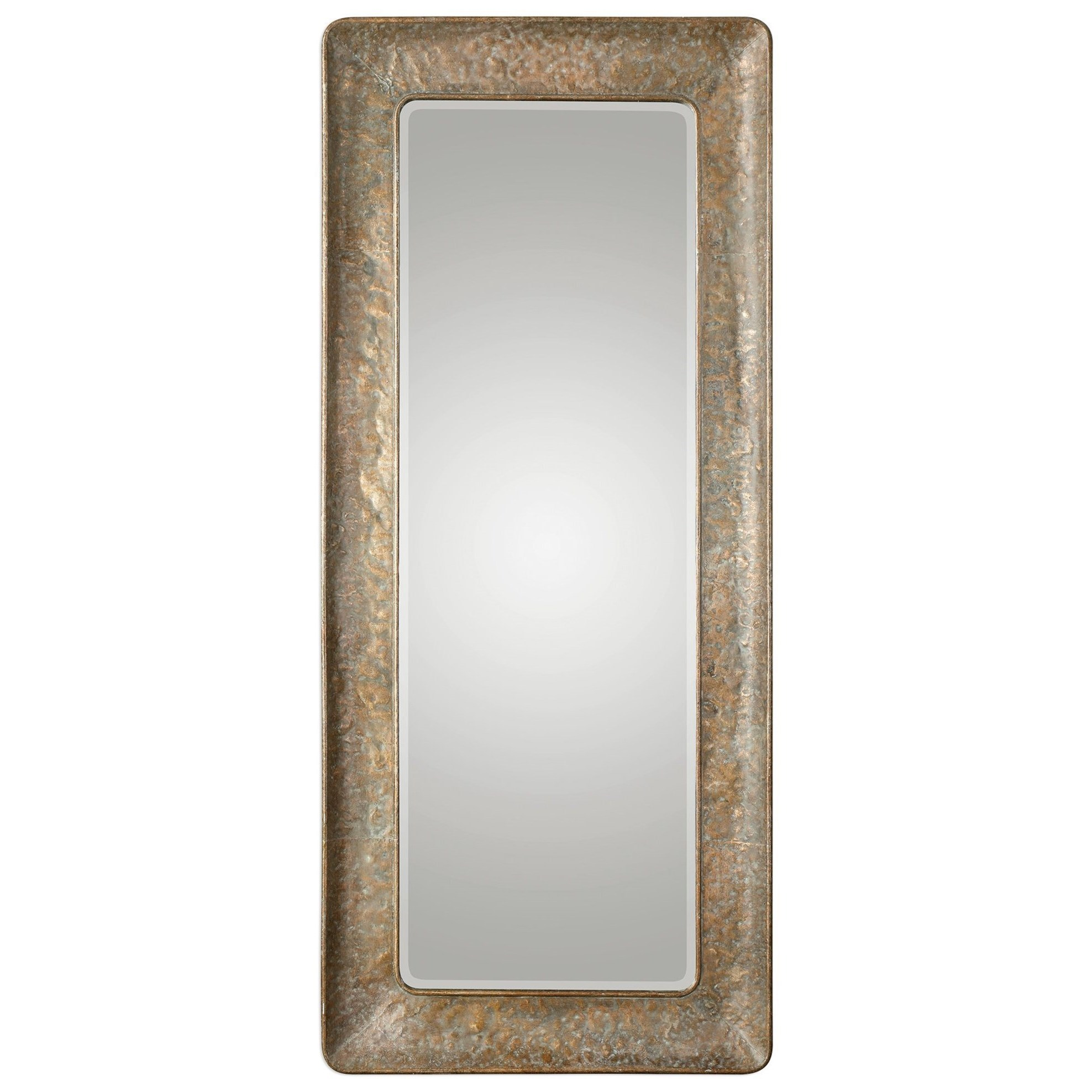 Silas Hammered Gold Mirror