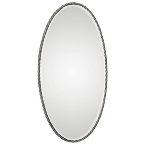 Kateel Twisted Iron Oval Mirror