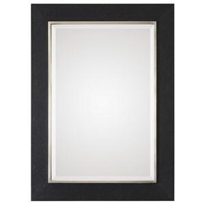 Uttermost Mirrors Kaira Textured Black Mirror