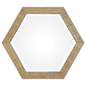Uttermost Mirrors Hanisha Honeycomb Gold Mirror