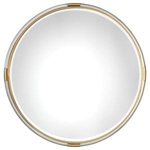 Uttermost Mirrors Mackai Round Gold Mirror