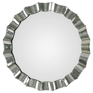 Sabino Scalloped Round Mirror