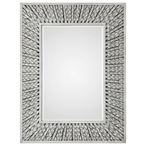 Uttermost Mirrors Narmada Gray Bamboo Strip Mirror