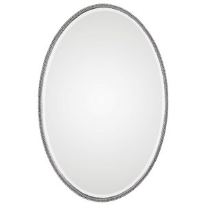 Giana Oval Silver Mirror