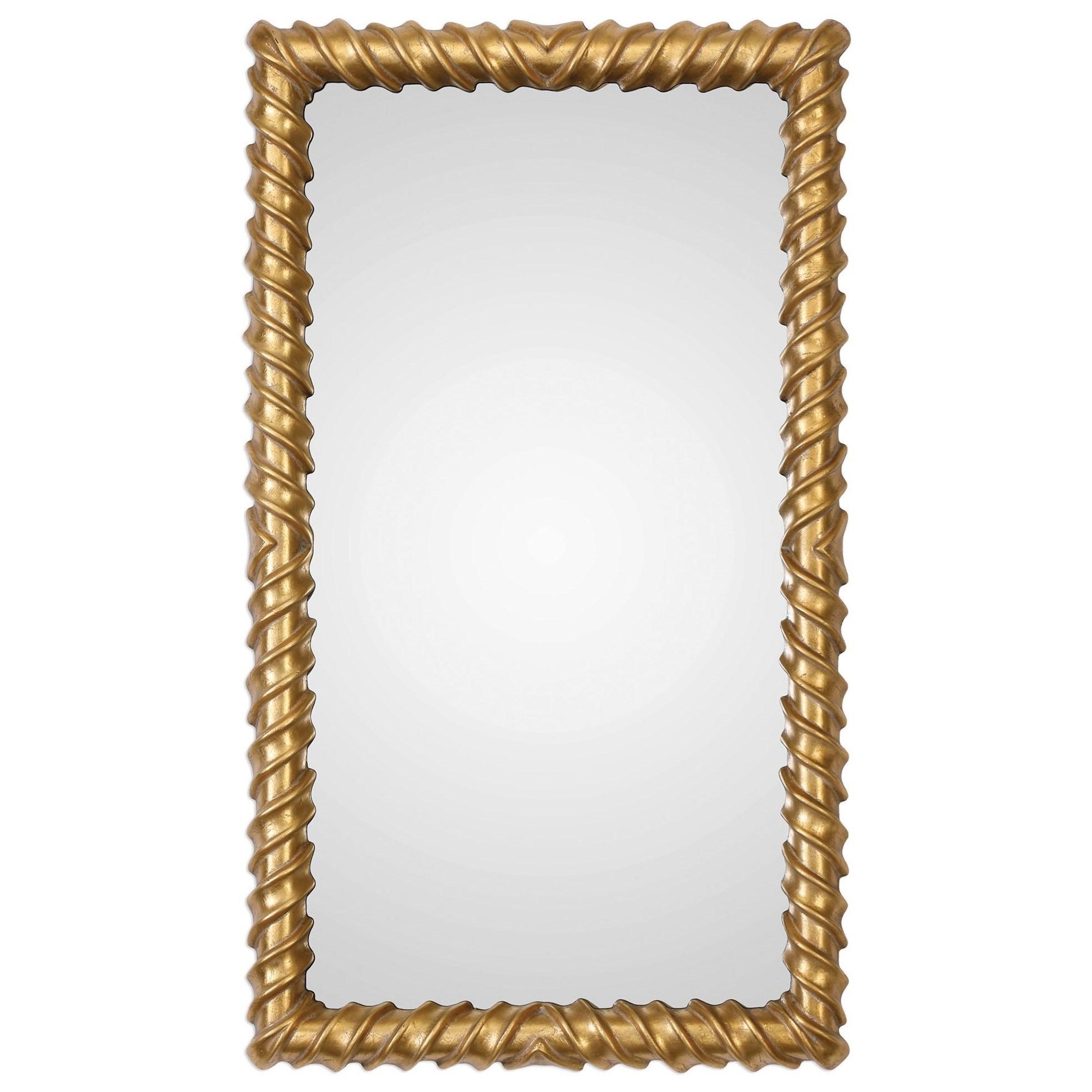 Yamuna Metallic Gold Mirror