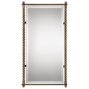 Uttermost Mirrors Rosabel Antique Brass Rectangle Mirror