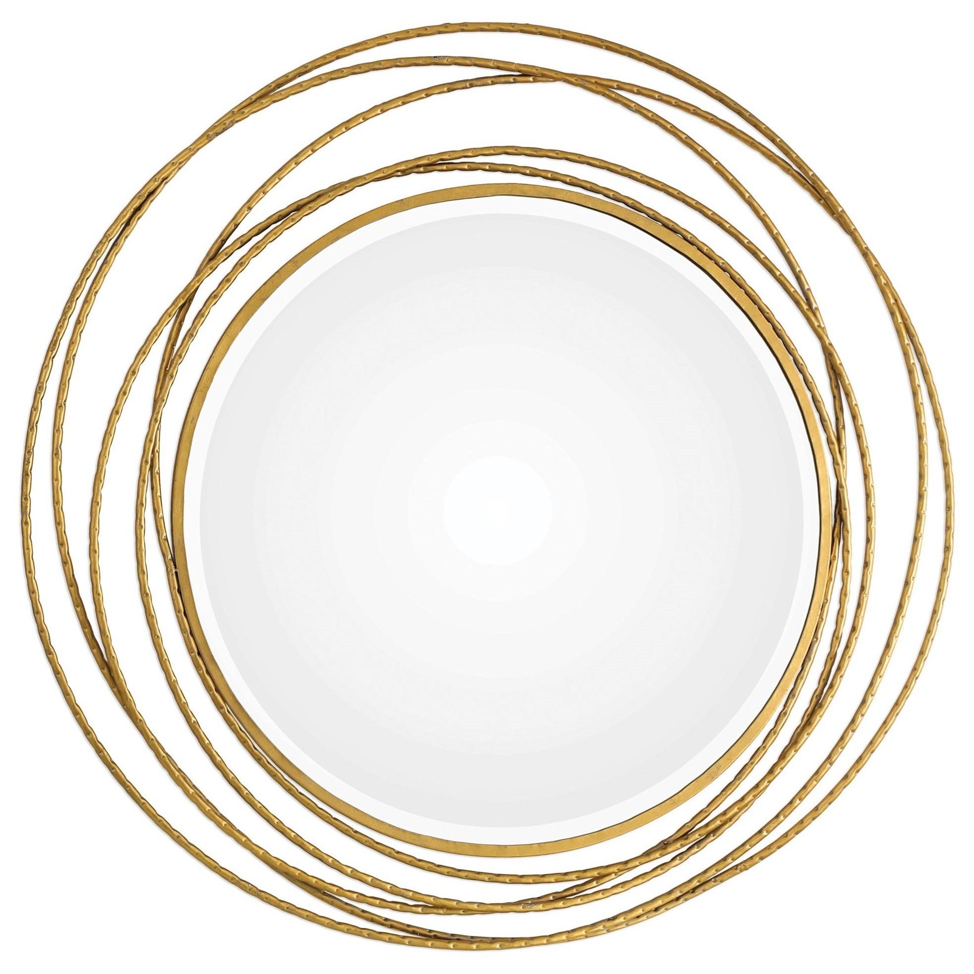 Uttermost Mirrors 09348 Whirlwind Gold Round Mirror Dunk