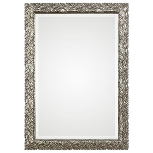 Uttermost Mirrors Evelina Silver Leaves Mirror