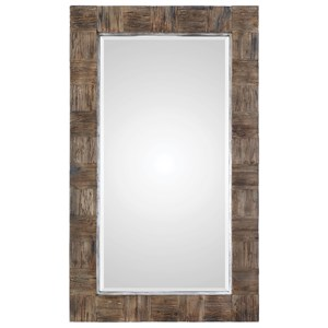 Barlow Rustic Wood Mirror