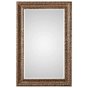Uttermost Mirrors Armadale Mahogany Bronze Large Mirror