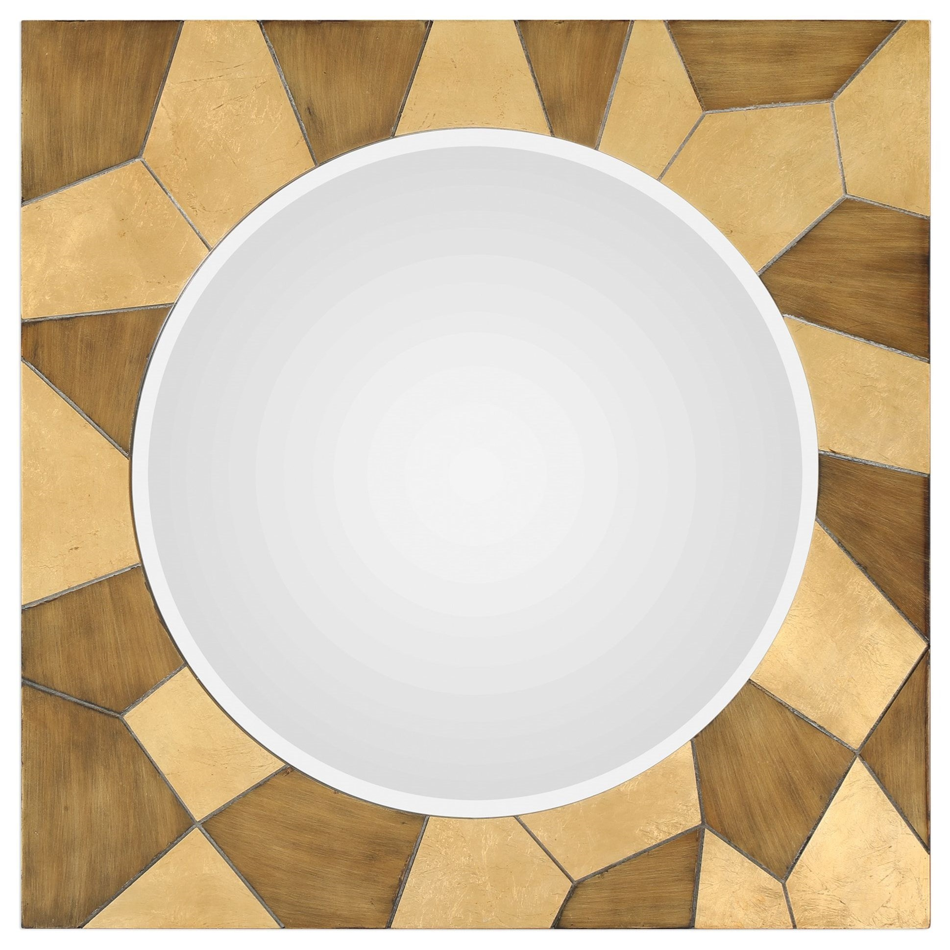 Ussana Patterned Wood Mirror