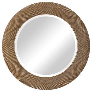 Uttermost Mirrors Aziza Gold Round Mirror