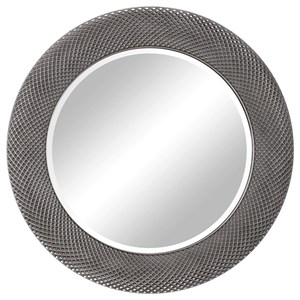 Uttermost Mirrors Aziza Silver Round Mirror