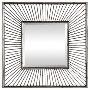Anji Silver Square Mirror