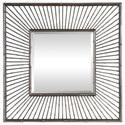 Uttermost Mirrors Anji Silver Square Mirror - Item Number: 09391