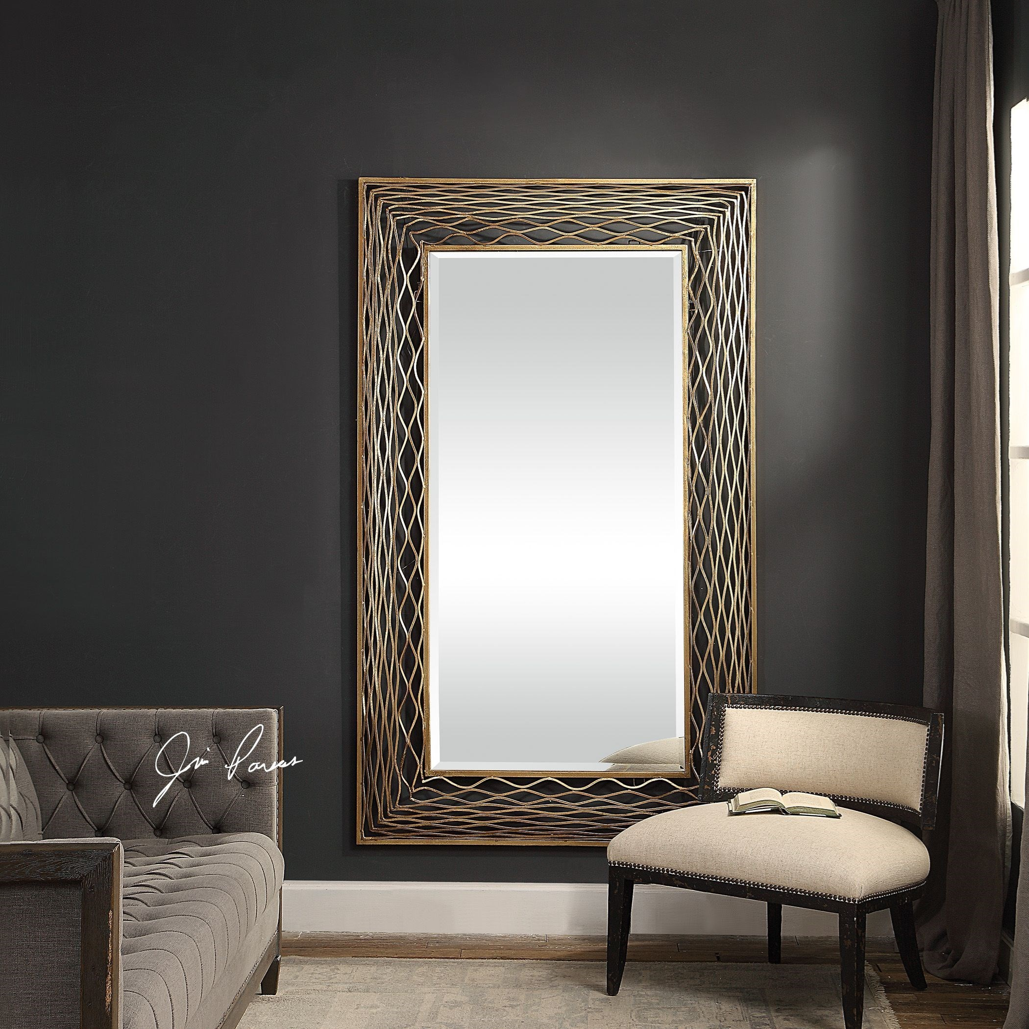 Vivian Wall Mirror By Uttermost: Uttermost Mirrors 09414 Galtero Rectangle Gold Mirror