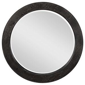 Ramere Round Ebony Mirror