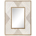 Uttermost Mirrors Bavol Metallic Gold Mirror - Item Number: 09427