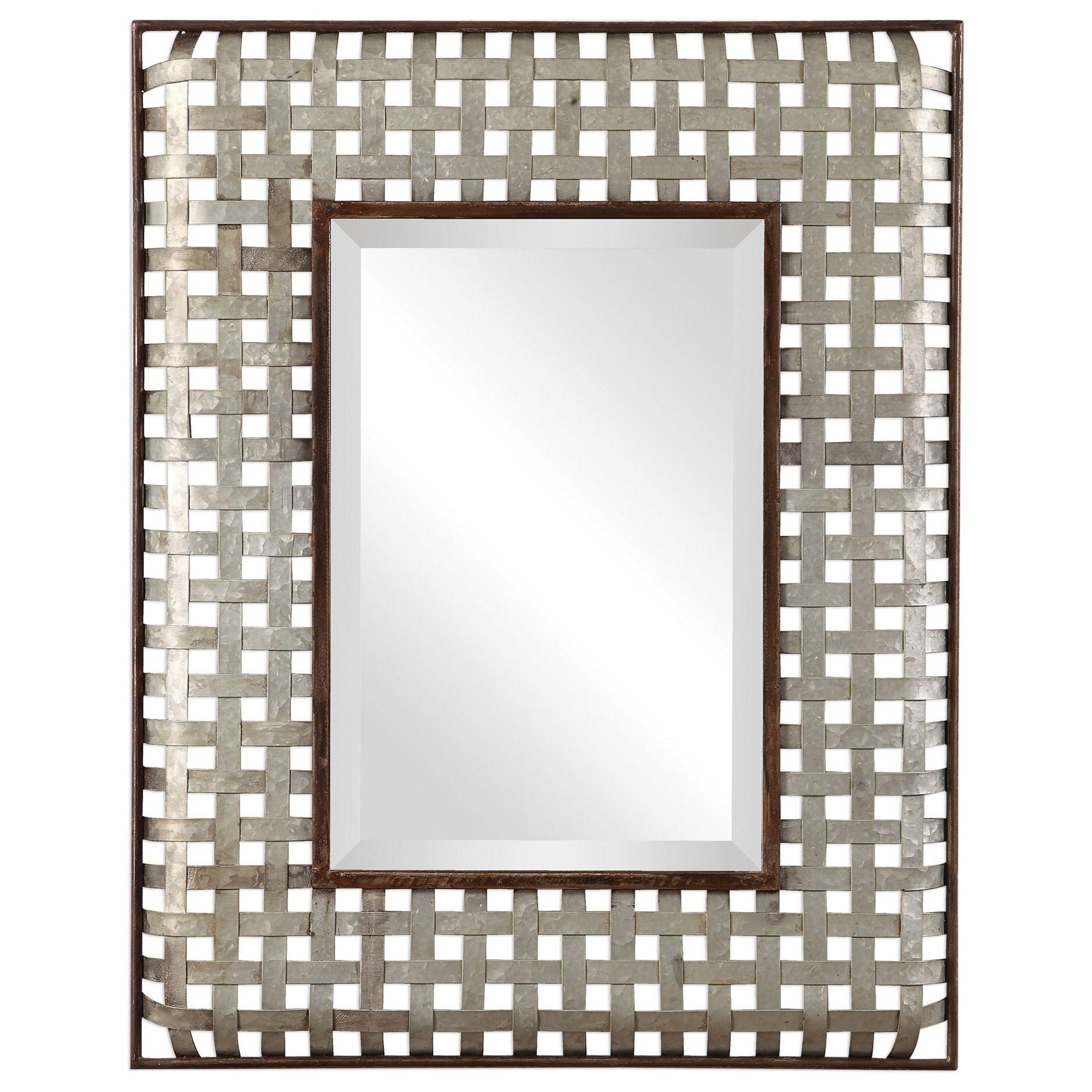 Fabelle Galvanized Metal Mirror