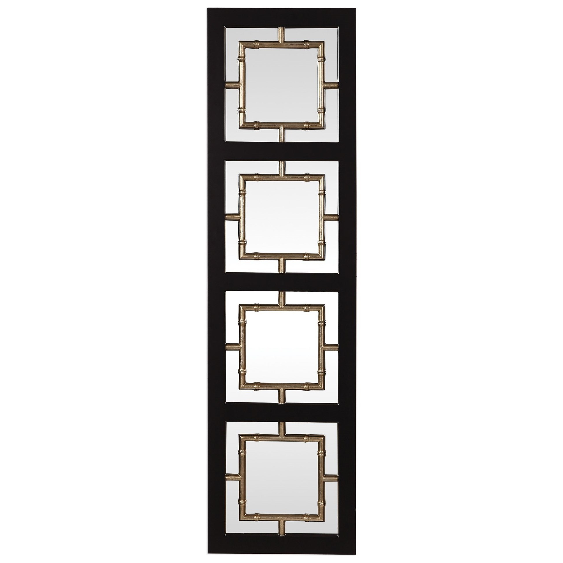 Tadon Black Rectangle Mirror